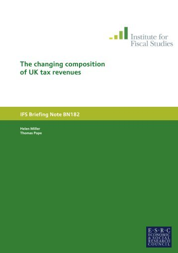 The changing composition of UK tax revenues