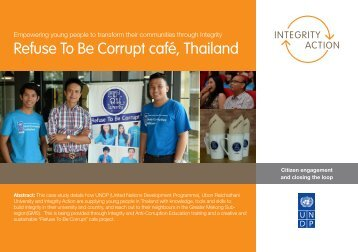 Refuse To Be Corrupt café Thailand