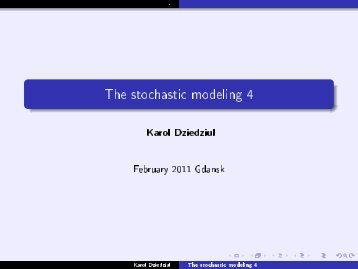 The stochastic modeling 4