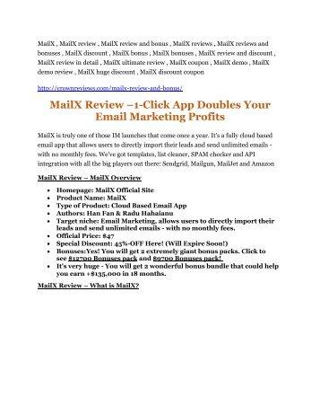 MailX review - MailX (MEGA) $23,800 bonuses