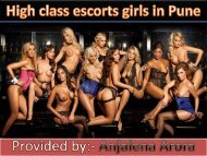 Find Platinum escorts services in Pune by Anjalena Arora