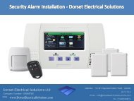 Security Alarm Installation - Dorset Electrical Solutions