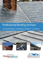 A Bailey Roofing Services Brochure