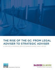 THE RISE OF THE GC FROM LEGAL ADVISER TO STRATEGIC ADVISER