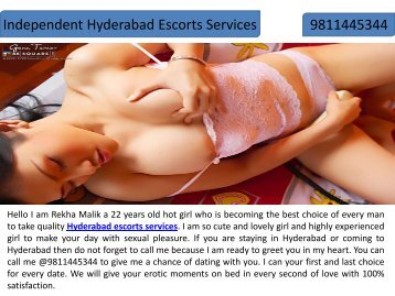 Leading Hyderabad Escorts Services by Rekha Malik