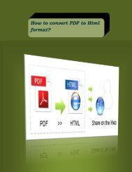 How to convert PDF to Html format?