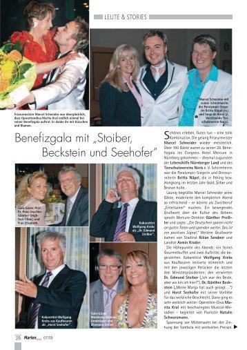 """Benefizgala mit """"Stoiber, Beckstein und Seehofer"""" - Matthias Horn"""