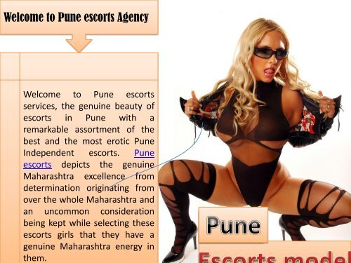 Full fill you dream with Pune escorts Agency