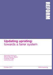 Updating uprating towards a fairer system