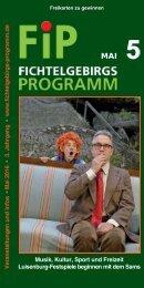 Fichtelgebirgs-Programm - Mai 2016