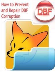 How to Prevent DBF Corruption & Repair