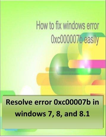 Download Fix error 0xc00007b