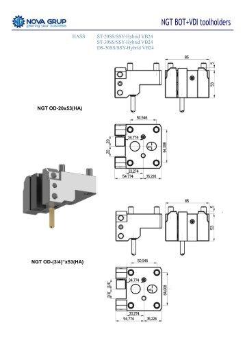 NGT BOT + VDI toolholders