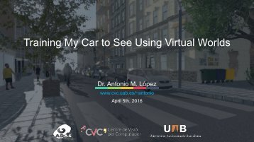 Training My Car to See Using Virtual Worlds