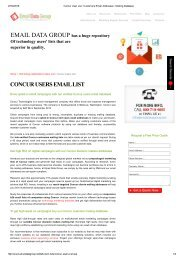 Email Marketing List of Concur Users and Customers