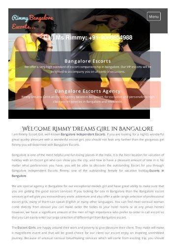 Rimmy - Bangalore Escorts Call us 24x7 Independent Escort Girls in Bangalore