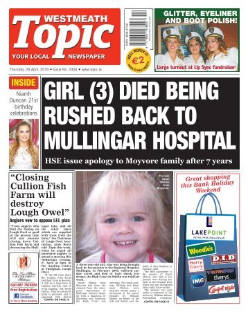 Westmeath Topic - 28 April 2016
