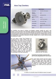 Atom Trap Chambers - Catalogue Pages