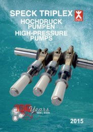 Speck-Triplex-Pumpen Gesamtkatalog 2015