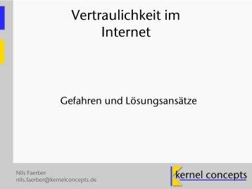 Vertraulichkeit im Internet