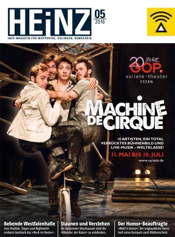 HEINZ Magazin Wuppertal 05-2016