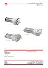 SCHWARZER PRECISION SP 500 EC LC L Diaphragm Pump 12V DC