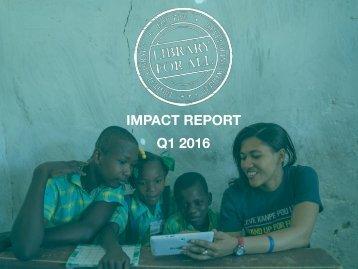 LFA IMPACT REPORT Q1 2016