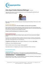 Infos Aqua-Family Hallenbad Mellingen - Wasserperlen