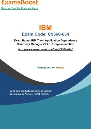 ExamsBoost C9560-654 Training Material and Exam Dumps