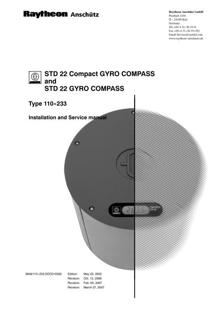 Gyro Comp Std 22 Installation and Service Manual(VER MAR Jld Wiring Diagram And X on