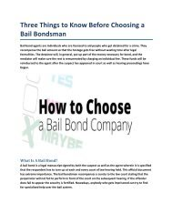 Three Things to Know Before Choosing a Bail Bondsman