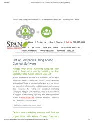 Get Tele Verified Adobe Connect Customer Lists from Span Global Services
