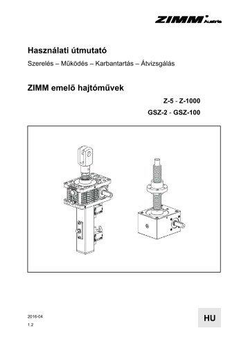Használati útmutató | ZIMM 1.2 - HU