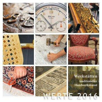 WERTE 2016 Ausstellungkatalog Stuttgart