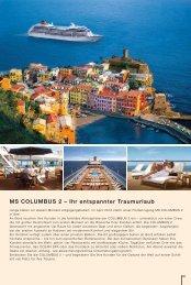 MS COLUMBUS 2 – Ihr entspannter Traumurlaub