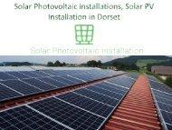 Solar Photovoltaic installations, Solar PV Installation in Dorset