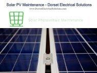 Solar PV Maintenance - Dorset Electrical Solutions
