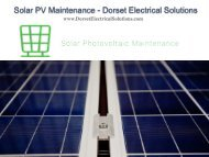 Solar PV Maintenance - Dorset Electrical Solutions