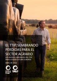 EL TTIP SEMBRANDO PÉRDIDAS PARA EL SECTOR AGRARIO