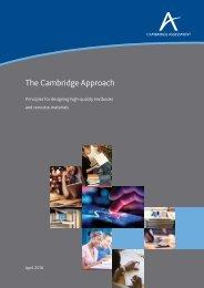 The Cambridge Approach