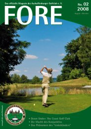FORE 02/08 (PDF) - Aschaffenburger Golf Club