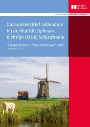bij de Multidisciplinaire Richtlijn (MDR) Schizofrenie
