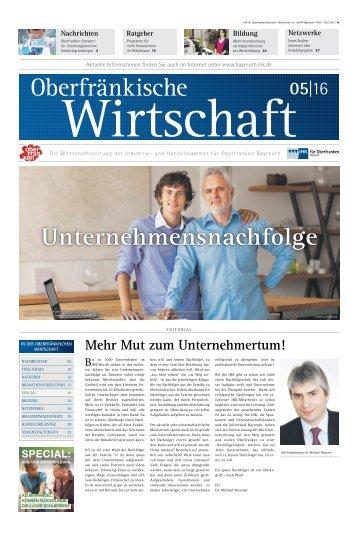 Oberfränkische Wirtschaft Ausgabe 5.2016