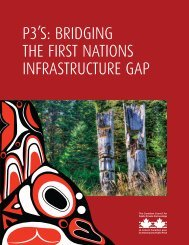 P3'S BRIDGING THE FIRST NATIONS INFRASTRUCTURE GAP