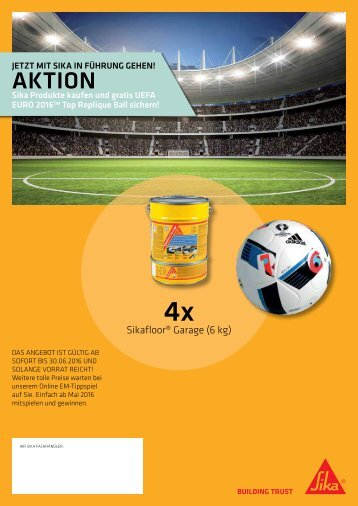 Sika Garage EM-Ball Aktion bis 30.06.16