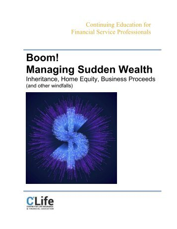 Boom! Managing Sudden Wealth - Full Course