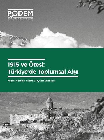 1915 ve Ötesi Türkiye'de Toplumsal Algı
