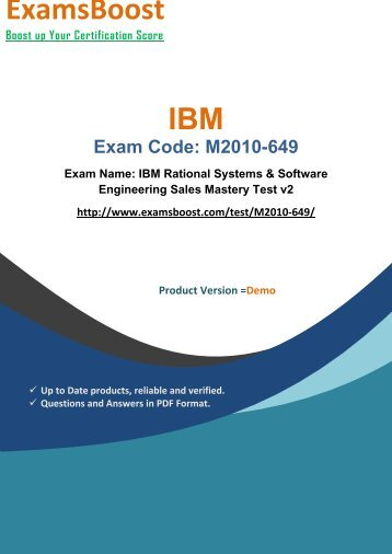 ExamsBoost M2010-649 Exam Actual Questions