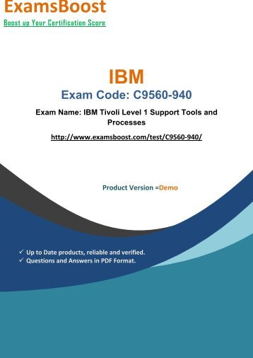 ExamsBoost C9560-940 Exam Actual Questions