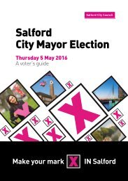 Salford City Mayor Election